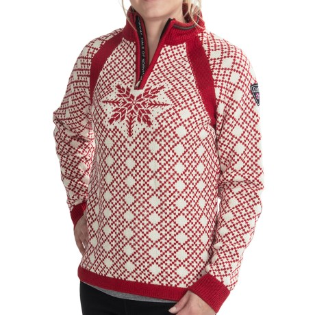 Dale of Norway Nansen Sweater - Merino Wool, Zip Neck (For Women)