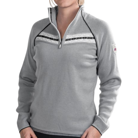 Dale of Norway Viking Sweater - Merino Wool, Zip Neck (For Women)
