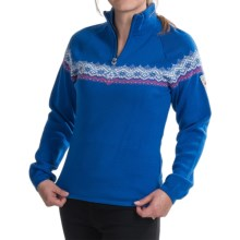Dale of Norway Calgary Sweater - Merino Wool, Zip Neck (For Women) in Coblat/Allium/Off White - Closeouts