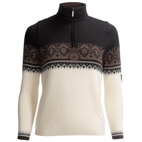 Dale of Norway St. Moritz Sweater - Merino Wool, Zip Neck (For Women)