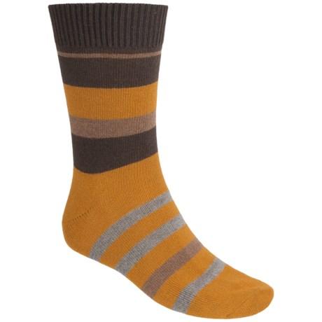 Falke Lhasa Stripe Socks - Wool-Cashmere, Mid-Calf (For Men)