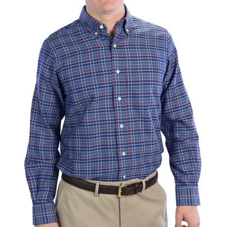 Fairway & Greene Panama Oxford Multi-Grid Sport Shirt - Long Sleeve (For Men)
