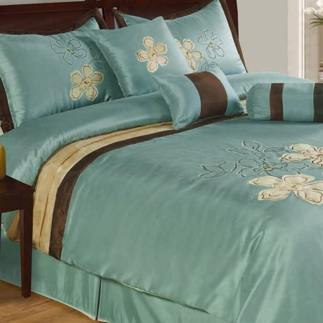Commonwealth Home Fashions Sassy Comforter Set - Queen, 7-Piece