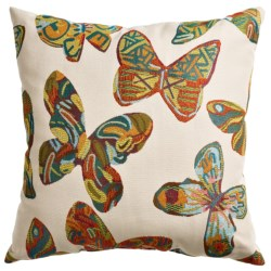 Commonwealth Home Fashions Palomita Butterfly Decor Pillow - 18x18""