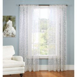 """Gala Collection Rosalee Burnout Sheer Curtains - 80x84"""", Pocket Top"""