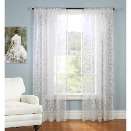 "Gala Collection Rosalee Burnout Sheer Curtains - 80x84"", Pocket Top"