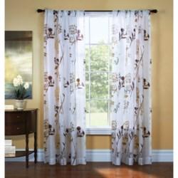 "Gala Collection Eden Burnout Sheer Curtains - 80x84"", Pocket Top"