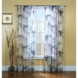 """Gala Collection Birches Sheer Burnout Curtains - 80x84"""", Pocket Top"""