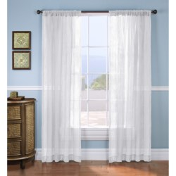 "Gala Collection Mist Burnout Sheer Curtains - 80x84"", Pocket Top"