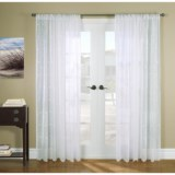 """Gala Collection Hathaway Embroidered Semi-Sheer Curtains - 108x84"""", Rod Pocket Top"""