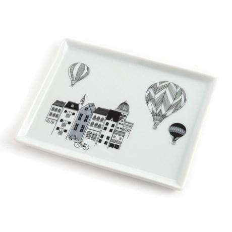 "Danica Studio Porcelain Bath Accessory Tray - 5x6.5"""