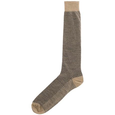 Byford® Byford Superwash Diamond Grid Socks - Merino Wool, Over-the-Calf (For Men)