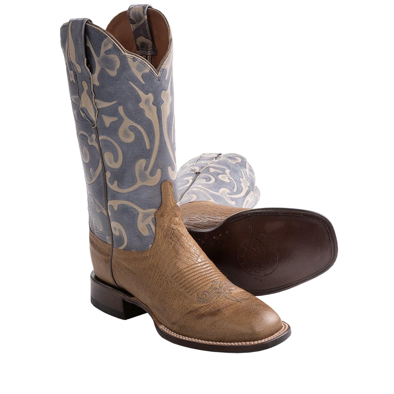 Simple  Womens Tan Burnished Brown Ostrich Leg Western Cowboy Boots  EBay