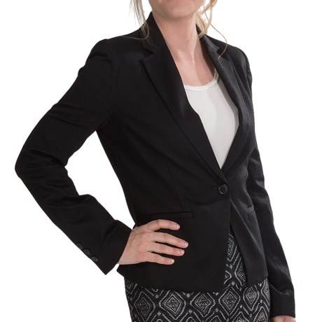 Amanda + Chelsea Small Pique Blazer - Stretch Cotton (For Women)