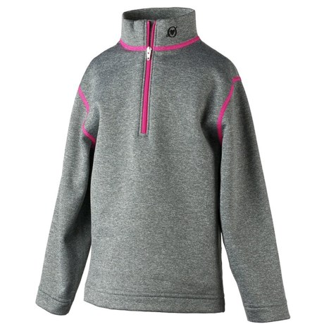 Obermeyer Thermal Fleece Shirt - Zip Neck, Long Sleeve (For Little Girls)