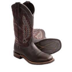 Lucchese Oiled Calf Shoulder Cowboy Boots - Leather (For Men)