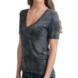 Hurley Hooked T-Shirt - V-Neck, Short Sleeve (For Women)