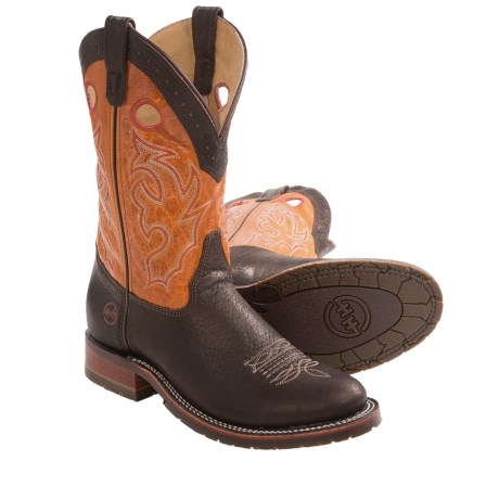 Double H Roper Cowboy Boots - U-Toe, Leather (For Men)