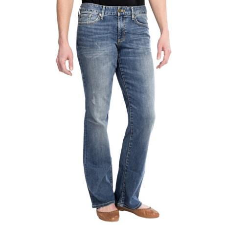 Curvy Fit Denim Jeans - Bootcut Leg (For Women)