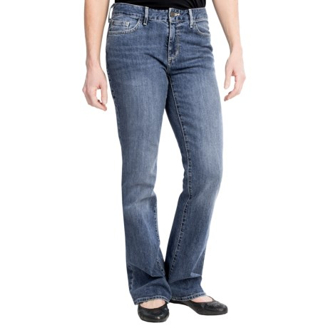 Slightly Curvy Fit Jeans - Bootcut (For Women)