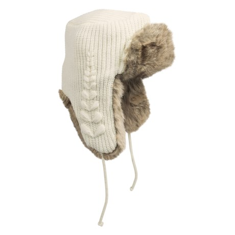 Woolrich Leaf Knit Aviator Hat - Faux-Fur Lining (For Men and Women)