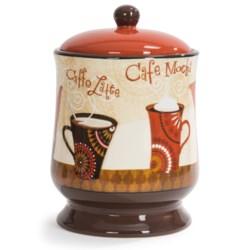 Certified International Cup of Joe Ceramic Biscuit Jar