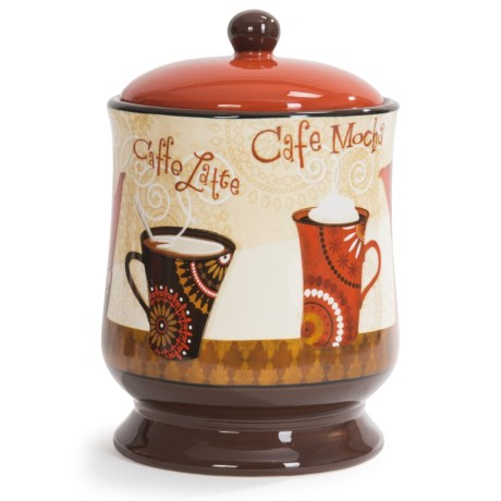 Certified International Cup of Joe Ceramic Biscuit Jar