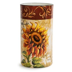 "Certified International Tuscan Sunflower Wine Cooler - 8.5"""