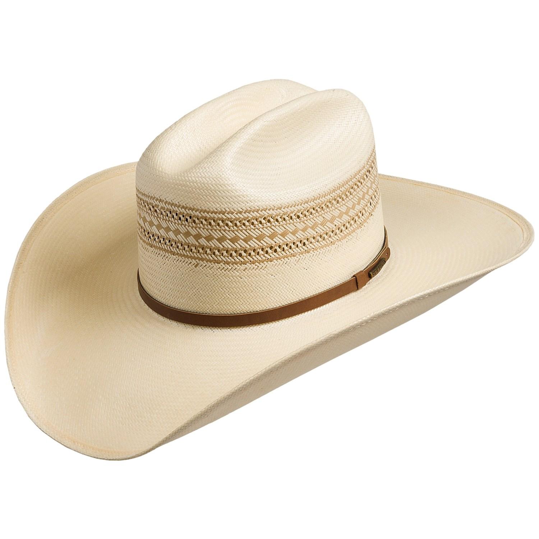 99a420c3 ... Stetson Straw Cowboy Hat: Stetson 8X Straw Cowboy Hat (For Men) 7203C