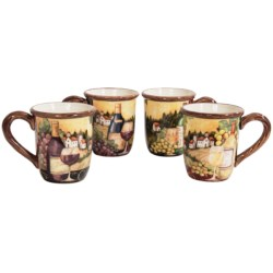 Certified International Merlot Sunset Coffee Mugs - Set of 4