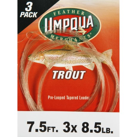 Umpqua Feather Merchants Trout Leader - 7.5', Tapered, 3-Pack