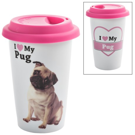Little Gifts Pet Lover Travel Mug - Insulated, Ceramic