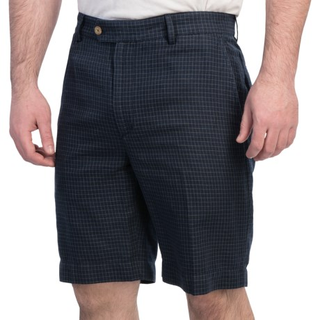 Fairway & Greene Tattersall Check Shorts - Flat Front (For Men)