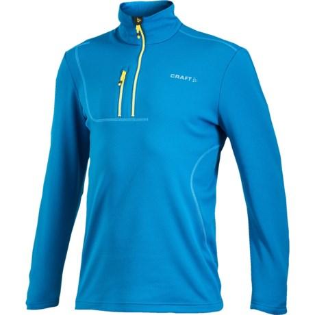 Craft Sportswear Flex Pullover Shirt - Zip Neck, Long Sleeve (For Men)