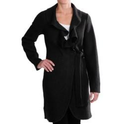 Venario Julia Wrap Jacket - Ruffled Collar, Boiled Wool (For Women)