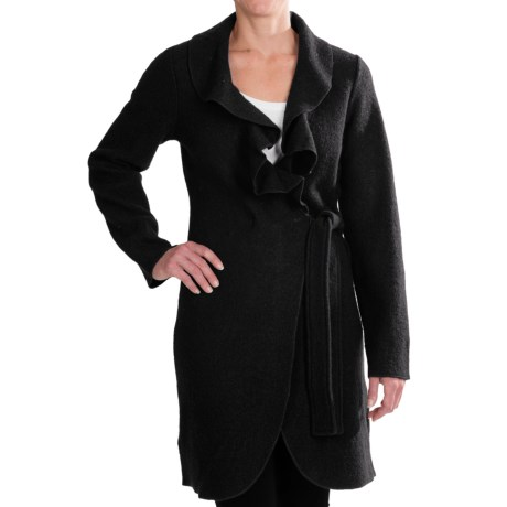 Venario Julia Wrap Jacket - Ruffled Collar, Boiled Wool (For Women)