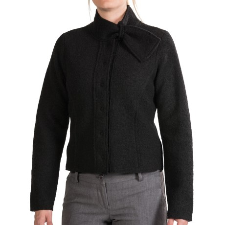 Country Fashion by Venario Boiled Wool Crop Jacket (For Women)