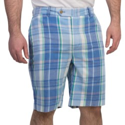 Fairway & Greene Giant Grid Madras Shorts - Cotton (For Men)