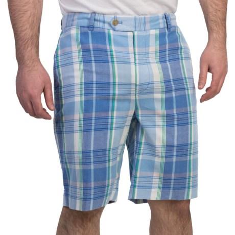 Fairway & Greene Giant Grid Madras Shorts - Cotton (For Men)