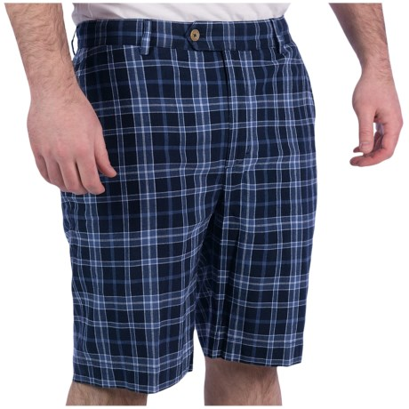 Fairway & Greene Madras Plaid Shorts - Flat Front, Cotton (For Men)
