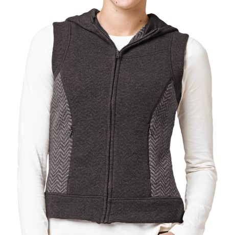 prAna Maura Hooded Vest - Wool Blend, Full Zip (For Women)