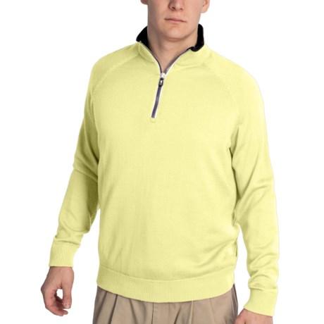 Fairway & Greene Solid Tech Windsweater - Merino Wool Blend, Zip Neck (For Men)