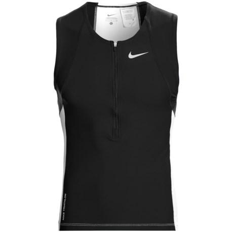 Nike Triathalon Top - Zip Neck, Sleeveless (For Men)