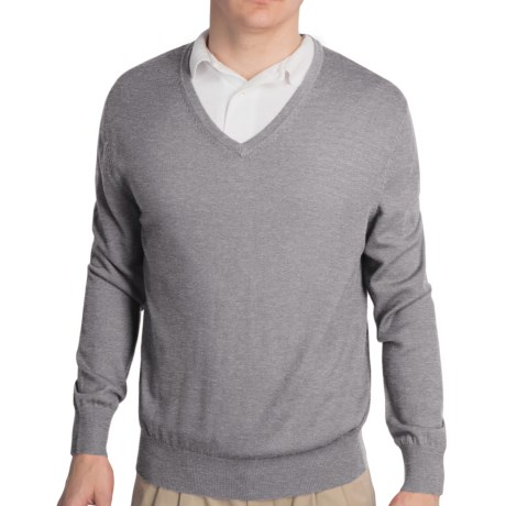 Fairway & Greene Classic V-Neck Sweater - Merino Wool (For Men)