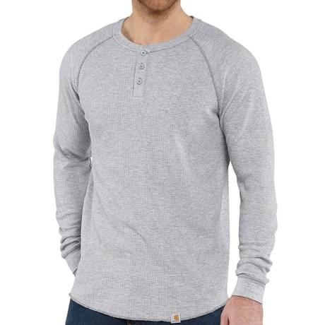 Carhartt thermal knit henley shirt for men 7248t for Carhartt men s long sleeve lightweight cotton shirt