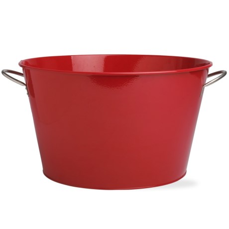 Tag Red Party/Drink Tub - Galvanized Metal