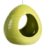 Tag Ribbed Bird Feeder - Ceramic