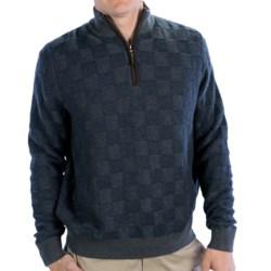 Fairway & Greene Glen Plaid Cashmere Blend Sweater - Zip Neck (For Men)