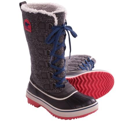 Luxury Sorel Womens Tivoli Camp 18 Leather Boot In Gray (kettle/black) | Lyst