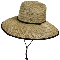 San Diego Hat Co. Straw Lifeguard Hat - UPF 50+ (For Men and Women)